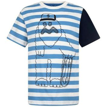 MDIGMS9 Stella McCartney Boys Striped Yeti T-shirt