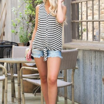 Paris Sleeveless Knot Tank
