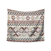 "Nika Martinez ""Tribal Native in Pastel Brown"" Brown Wall Tapestry"