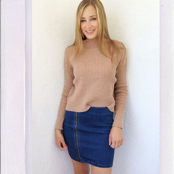 St. Lucia Turtle Neck- Taupe
