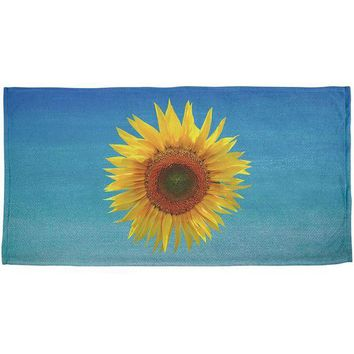 Chenier Flower Blossom Sunflower All Over Bath Towel
