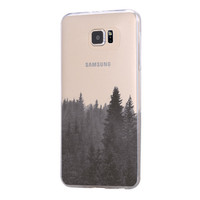 Forest Fog Samsung Galaxy S6 Edge Clear Case Galaxy S6 Transparent Case Samsung S5 Hard Cover C0004