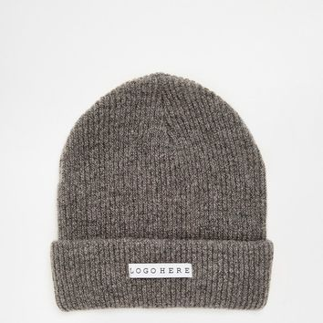 ASOS Beanie With Logo Here Label