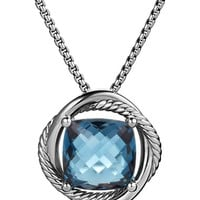 Women's David Yurman 'Infinity' Medium Stone Pendant on Chain
