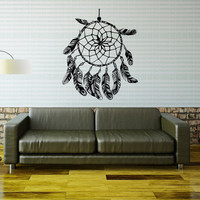Wall Decal Dream Catcher Decals Native America Dreamcatcher Hippie Decor- Dreamcatcher Living Room Bedroom Boho Bohemian Bedding Decor 0005