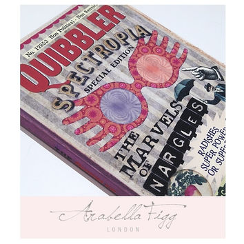 Refillable A6 Notebook Cover and Notebook. The Quibbler Spectrespecs Book Journal. Inspired by Harry Potter & Luna Lovegood. Blank Inside.