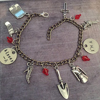 Pretty Little Liars Kisses A Charm Bracelet - Fandom Jewelry - PLL Jewelry - Little Liars Jewelry