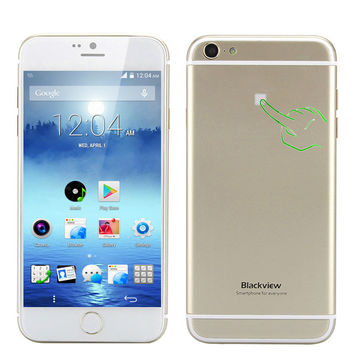 Blackview Ultra A6 Phone - 4.7 Inch 1280x720 Capacitive TFT OGS Screen, MTK6582 Quad Core CPU, Back Touch, Android 4.4 OS (Gold)
