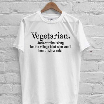 Vegetarian Cant Hunt Fish Funny T-shirt Men, Women Youth and Toddler