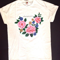 Vintage california t-shirt. 80's graphic print tee.