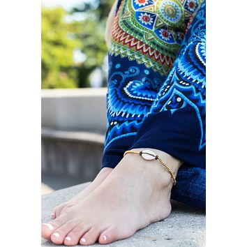Roques Cowrie Shell Anklet