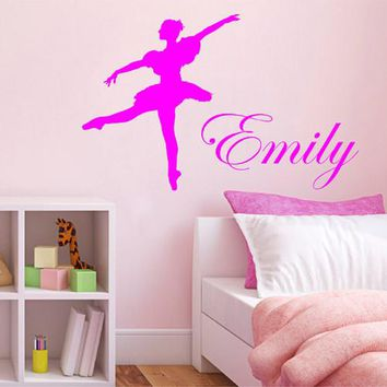 ik2219 Wall Decal Sticker for the name girl ballerina children's bedroom
