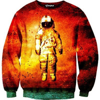 Red Space Crewneck