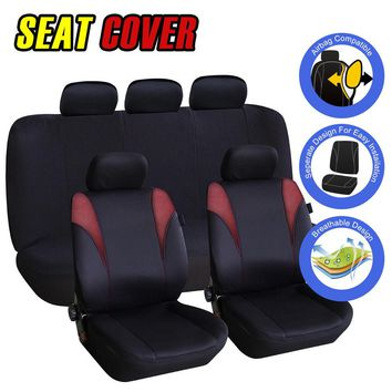 US Shipping For Car Auto Interior Accessorie Universal Size Head Rest Car Seat Covers Set
