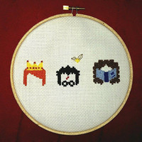 Harry Potter Cross-stitch Wall Hanging - Harry, Ron and Hermione (6 inch)