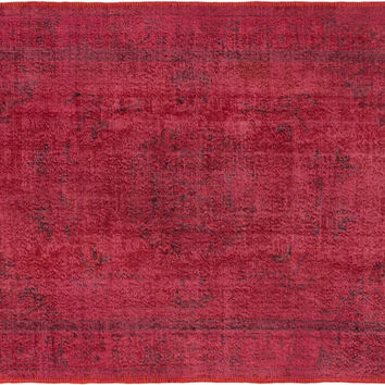 "Sold. 5'11"" x 8'6"" Pink Red Turkish Overdyed Rug"