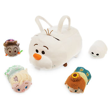 Olaf ''Tsum Tsum'' Plush Set - Small Bag - 9'' - Plus 4 Frozen Minis - 3 1/2''