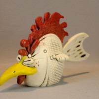 Chicken-Fish sculpture (Free Shipping)