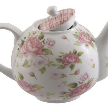 Porcelain Rose Discount Teapot