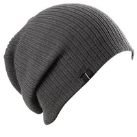 Slouch Slouchy Beanie Soft Loose Beanie Hat Charcoal Gray by Highly Beanie