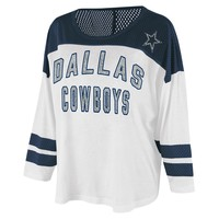 Dallas Cowboys Women's Hail Mary Tri-Blend Top