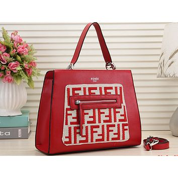 FENDI Fashion Lady's Printed Single Shoulder Bag