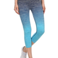 Ombre Blue Activewear Capri Leggings