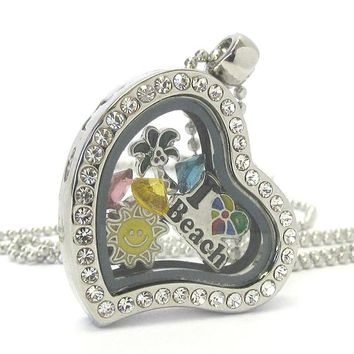 Heart Charm Locket for Summer