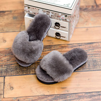 Children Cotton Leather Wool Shoes Slippers [6047233857]