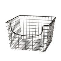 Spectrum Scoop 12.125 in. W x 13 in. D x 8 in. H Medium Basket in Cool Gray-98976 - The Home Depot