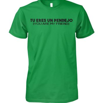 Tu Eres Un Pendejo Funny Spanish Shirt for Men, Funny Gifts, Men's Tops