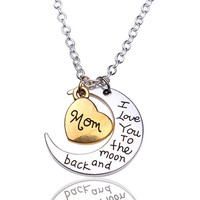 """""""I Love You To The Moon and Back""""  Necklace"""