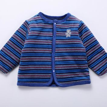 Baby spring and autumn winter sweatshirt wadded cotton jacket baby clothes children clothes fashion warm cardigan jacket