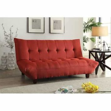 Baines Adjustable Sofa, Red Linen