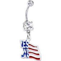 Yes We Can American Flag Belly Ring