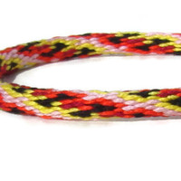 NEW-- bright color kumihimo bracelet with stainless steel magnetic clasp