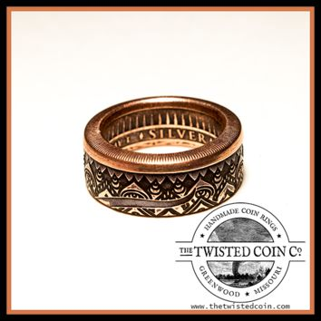 Om Copper Coin Ring