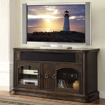 "Grand Palacio Collection 62"" TV Stand Console Distressed Black Licorice"