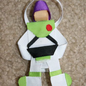 SALE - PICK 1 - Disney Toy Story Hair Bow Clip - Jessie, Woody, or Buzz Lightyear 3D Ribbon Sculpture Character Clip Clippie