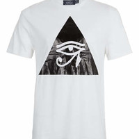 WHITE EGYPTIAN EYE T-SHIRT - New In