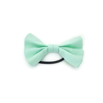 Mint Green Hair Bow | ponytail holder | hairbow | hairbows | hair accessories | hair tie | hairband | mint green hair piece | hairpiece
