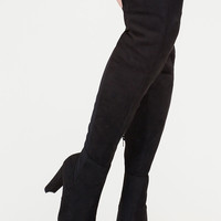 Impeccable Style Chunky Thigh-High Boots GoJane.com