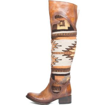 MDIGH3W Freebird by Steven for Women: FB-SUN Cognac Boots
