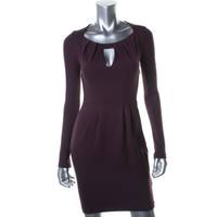 French Connection Womens Ponte Knee-Length Cocktail Dress