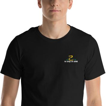 No Step On Snek Embroidered Crew Neck T-Shirt