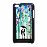 Love Song Romantic In The Rain Paint iPod Touch 4th Generation Case