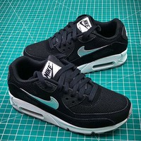 Nike Air Max 90 Black Silver Sport Running Shoes - Best Online Sale