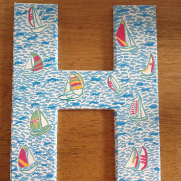 Lilly Pulitzer Print Letter