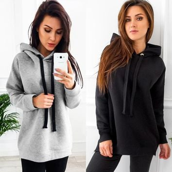 Hats Winter Long Sleeve Women's Fashion Hoodies [302108508201]