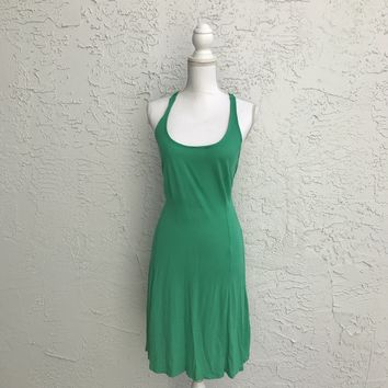 Old Navy Knotted Back T Soft Imperial Jade Green Dress, Size Small